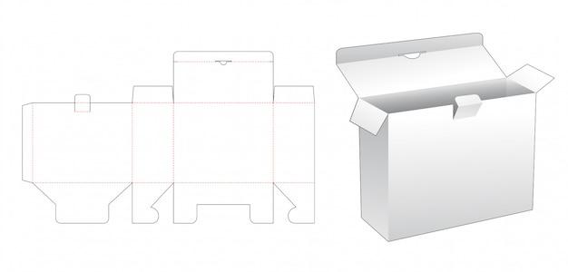 Cardboard packaging box die cut template