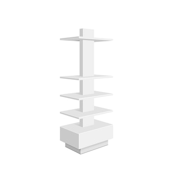 Картонная стойка для супермаркета. изолированных иллюстрация