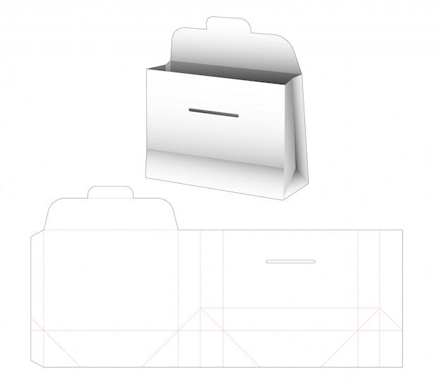 Cardboard rectangular bag die cut template