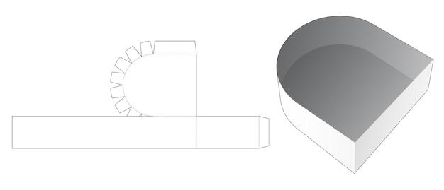 Cardboard round tray die cut template