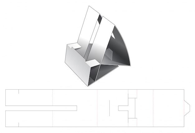 Cardboard smart phone dock die cut template
