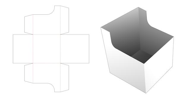 Cardboard snack bowl die cut template