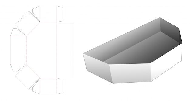 Cardboard snack tray die cut template