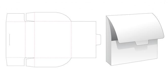 Modello fustellato del sacchetto di immagazzinaggio del cartone