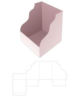 곡선 가장자리 다이 컷 템플릿이있는 골판지 트레이 상자