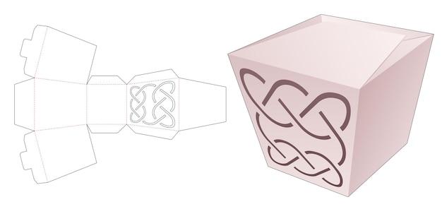 Картонная коробка с шаблоном для высечки в виде ступенчатой линии