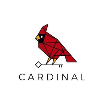 Кардинал птица ключ геометрической многоугольной линии логотип
