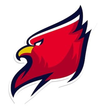 Cardinal bird mascot logo