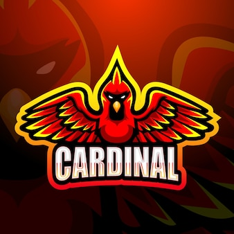 Cardinal mascot illustration