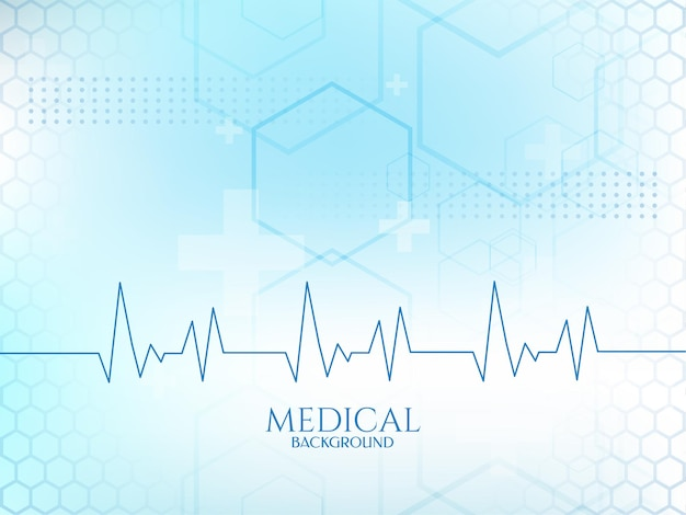 Cardiograph heartbeat line soft blue color medical background