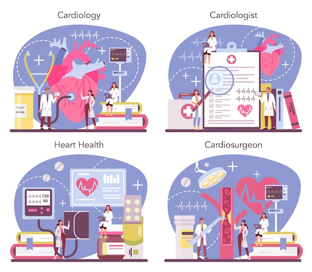 Cardiologist concept set
