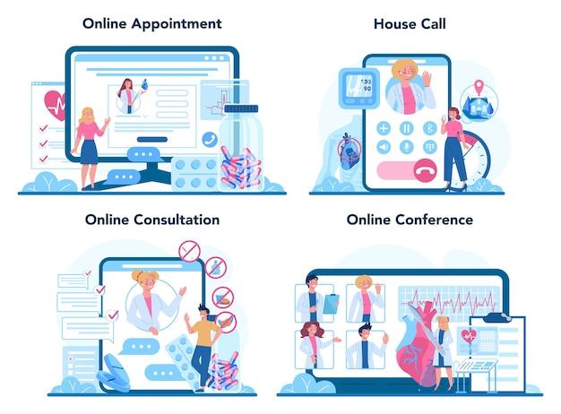 Cardiologist online service or platform set