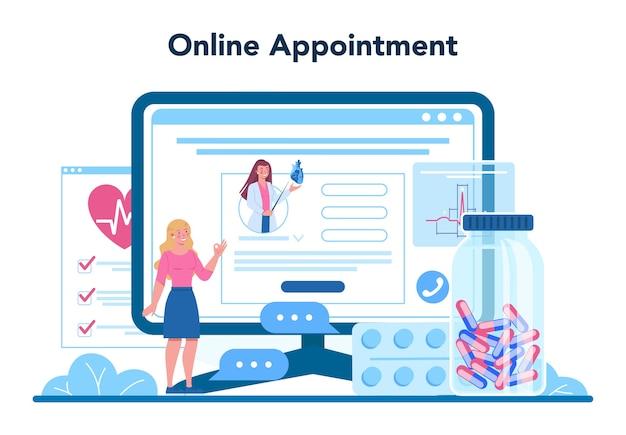 Cardiologist online service or platform
