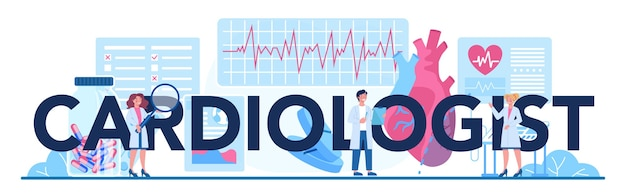 Cardiologist typographic header