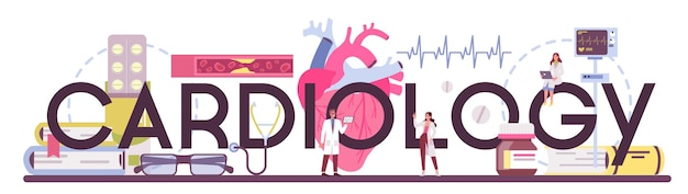 Cardiology typographic header