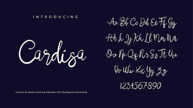 Cardisa 서명 글꼴 스크립트 브러시 알파벳