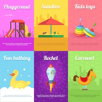 Cards for kids with funny toys