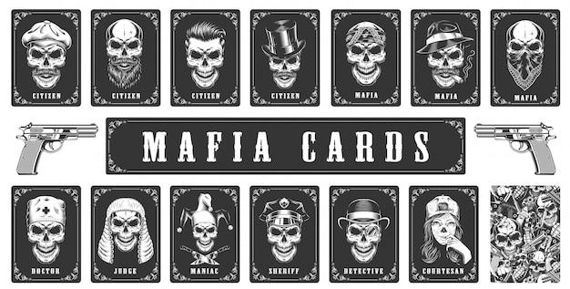 Carte per il gioco della mafia