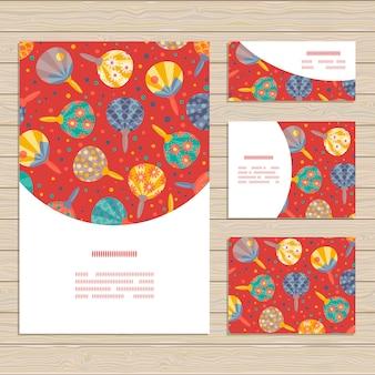 日本のファンの装飾とカードのテンプレート