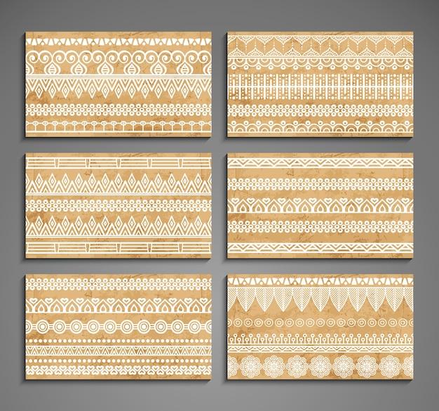 Le carte con ornamenti etnici