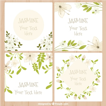 Cards with jasmine design