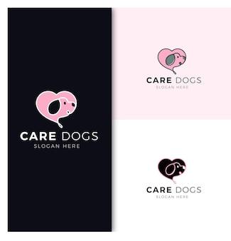 Шаблон дизайна логотипа заботливой собаки