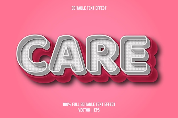 Care editable text effect comic style