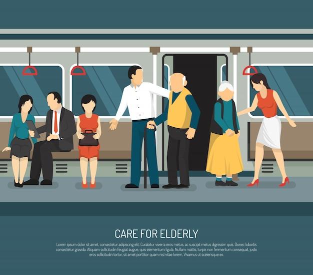 Care for elderly illustration