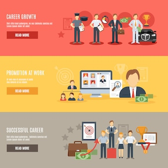 Download Free Career Banner Set Vector Freepik