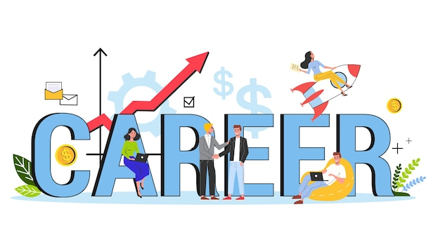 Career concept. idea of progress in job and success