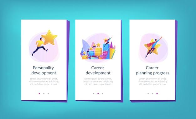 Career development app interface template