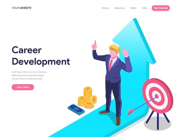 ランディングページ、ui、web、ホームページ、バナーのキャリア開発コンセプト