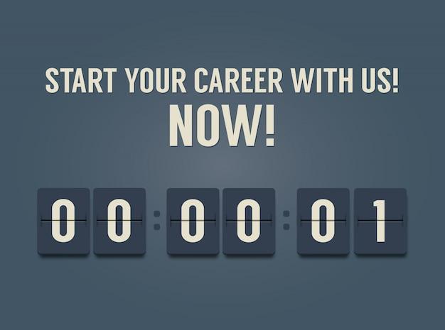 Career development. timer