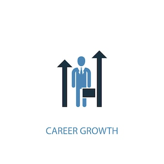 Career growth concept 2 colored icon. simple blue element illustration. career growth concept symbol design. can be used for web and mobile ui/ux