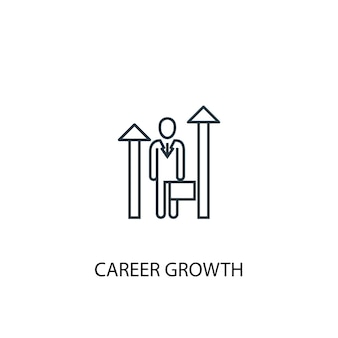 Career growth concept line icon. simple element illustration. career growth concept outline symbol design. can be used for web and mobile ui/ux