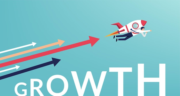 Career growth and development concept illustration.