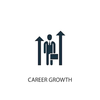 경력 성장 아이콘입니다. 간단한 요소 그림입니다. 경력 성장 개념 기호 디자인입니다. 웹 및 모바일에 사용할 수 있습니다.