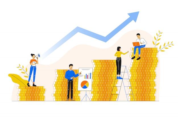 成功へのキャリアの成長
