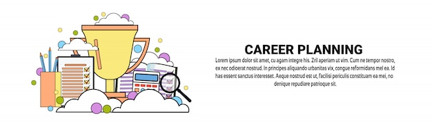 Career planning business concept horizontal banner template