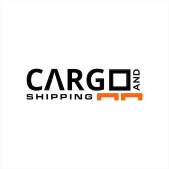 Cargo and shipping logo simple text