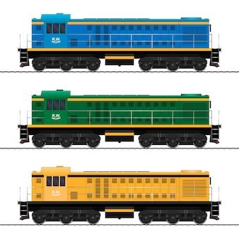 貨物列車。鉄道車両。