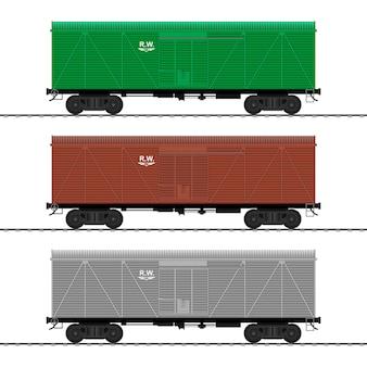 화물 열차. 철도 운송.
