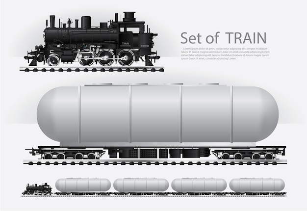 鉄道の貨物列車ベクトル図