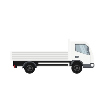 Cargo truck in white color