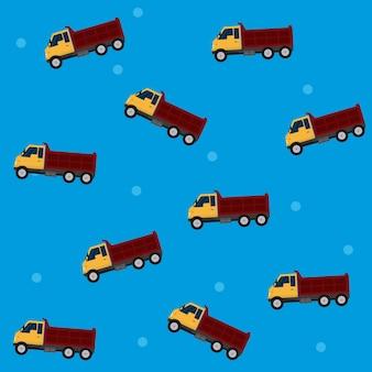 Cargo trucks pattern background vector illustration graphic design
