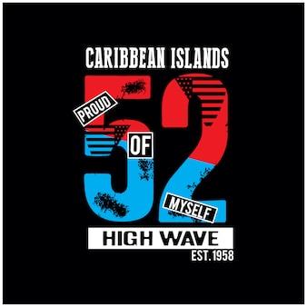 カリブ海の島のtシャツベクトルモックアップ