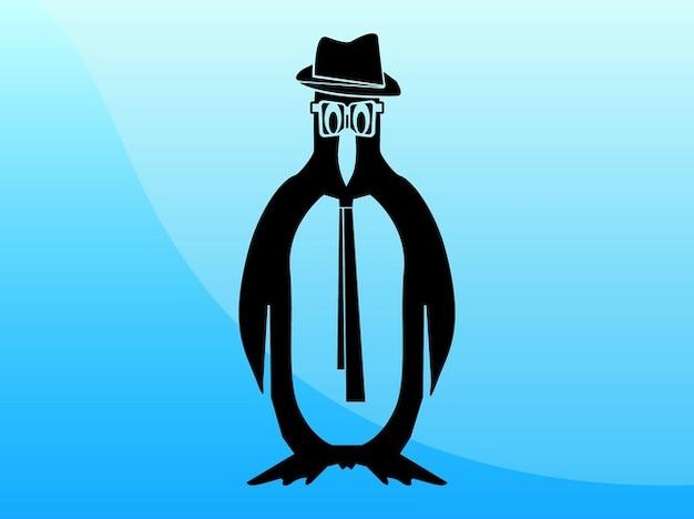 Caricature of a penguin