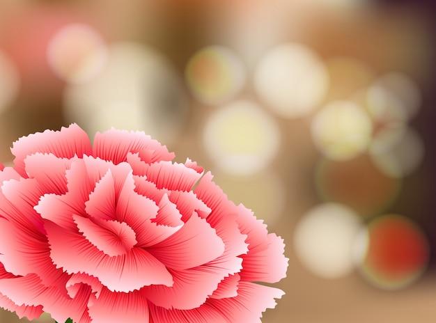 自然の背景にカーネーションの花