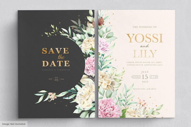 Гвоздика цветы приглашение