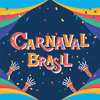 Carnaval brasil celebration background with colorful party elements.event in brazil
